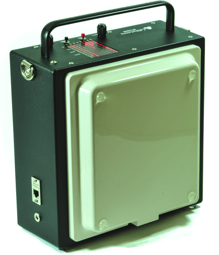 DT2000+ Portable battery operated unit with integrated panel antenna